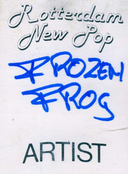 Frozen Frog artist badge